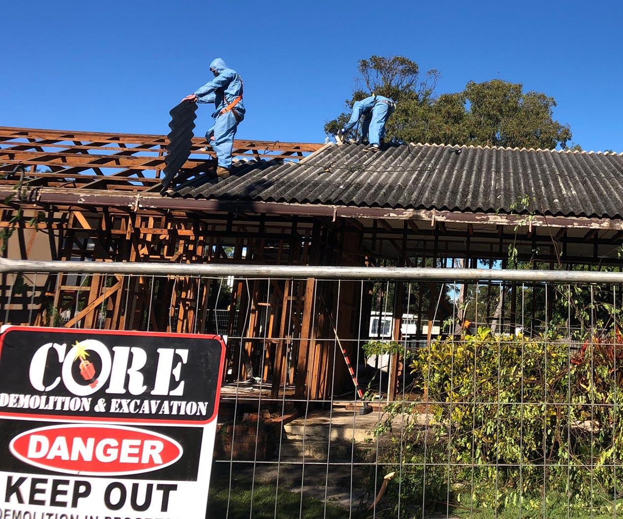 asbestos removal core demolition