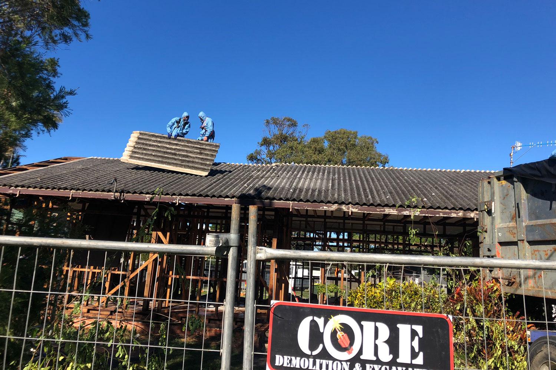 asbestos removal core demo
